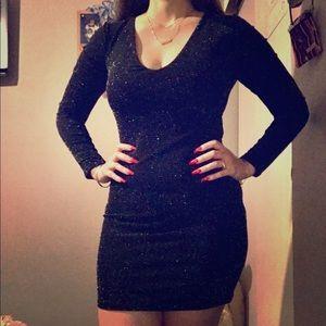 Little Black Glitter Dress